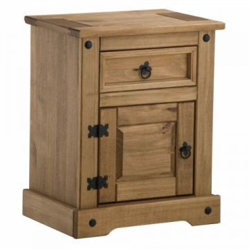 Madrid 1 drawer bedside cabinet
