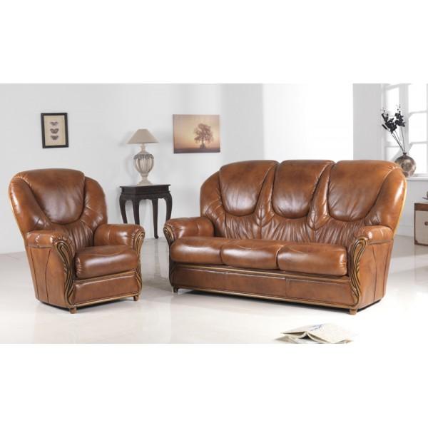 Rome leather sofa suite